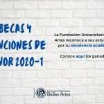 Becas y menciones de honor 2020-1